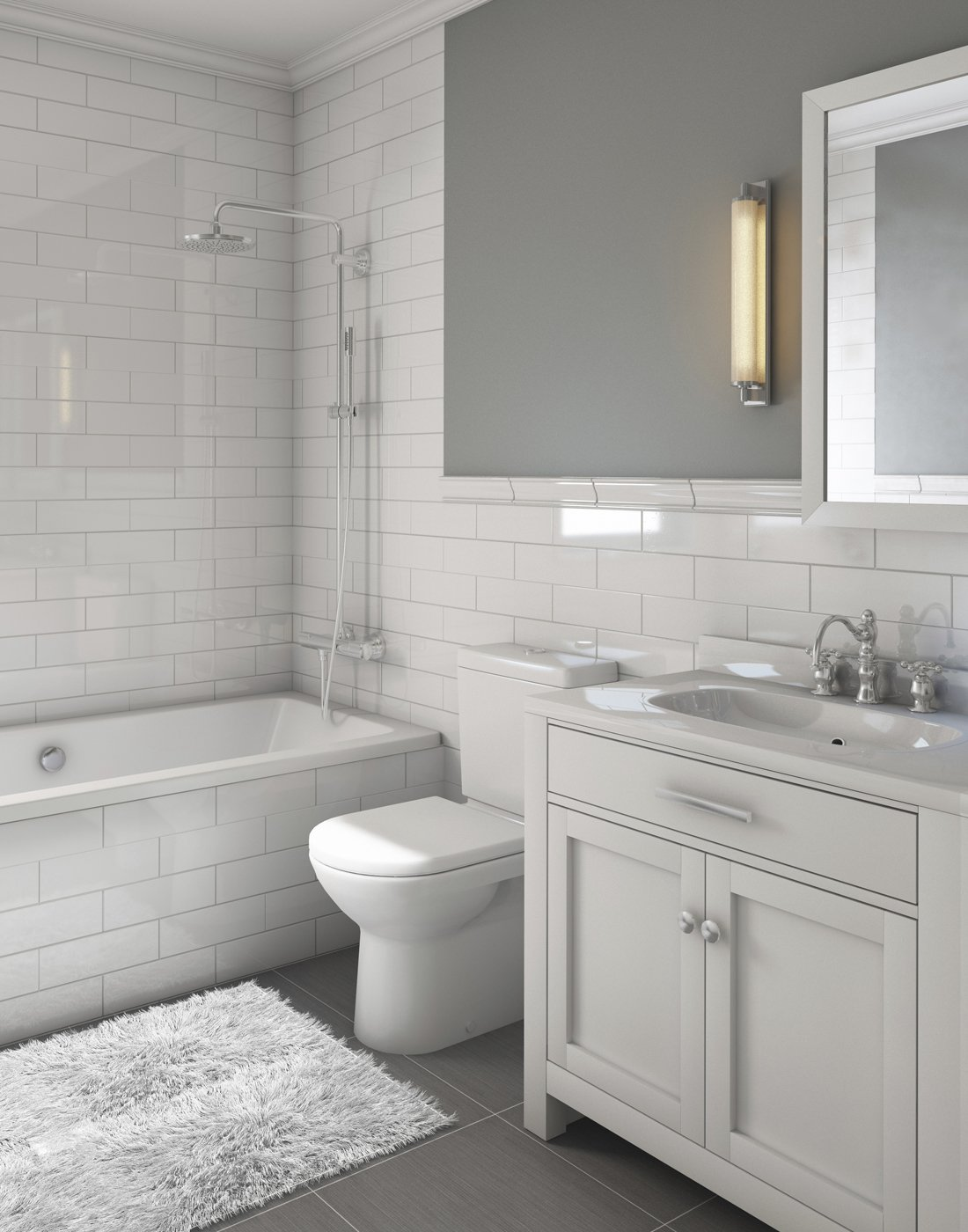 Newely remodeled bathroom